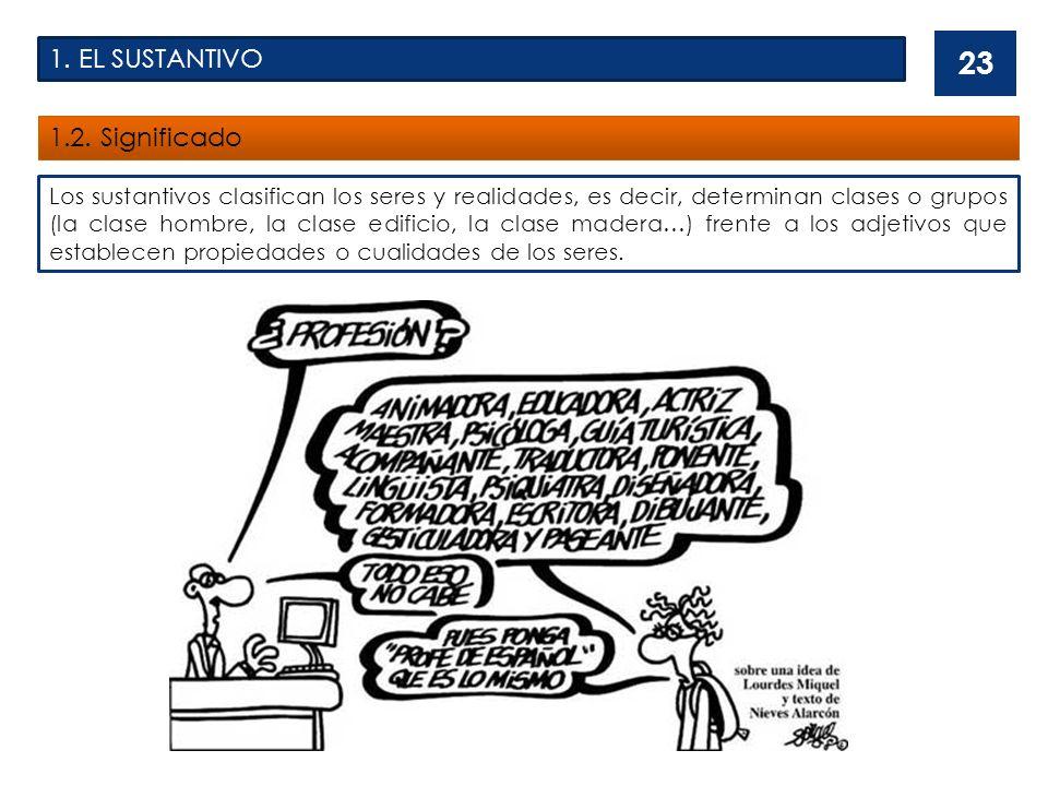 1.EL SUSTANTIVO 1.2.