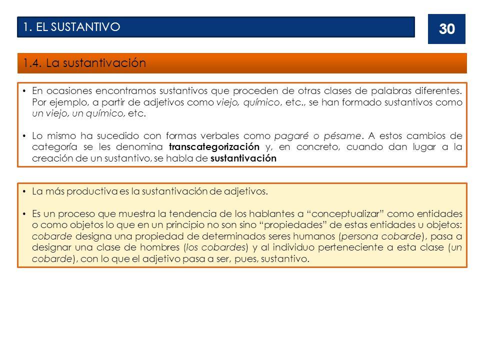 1.EL SUSTANTIVO 1.4.