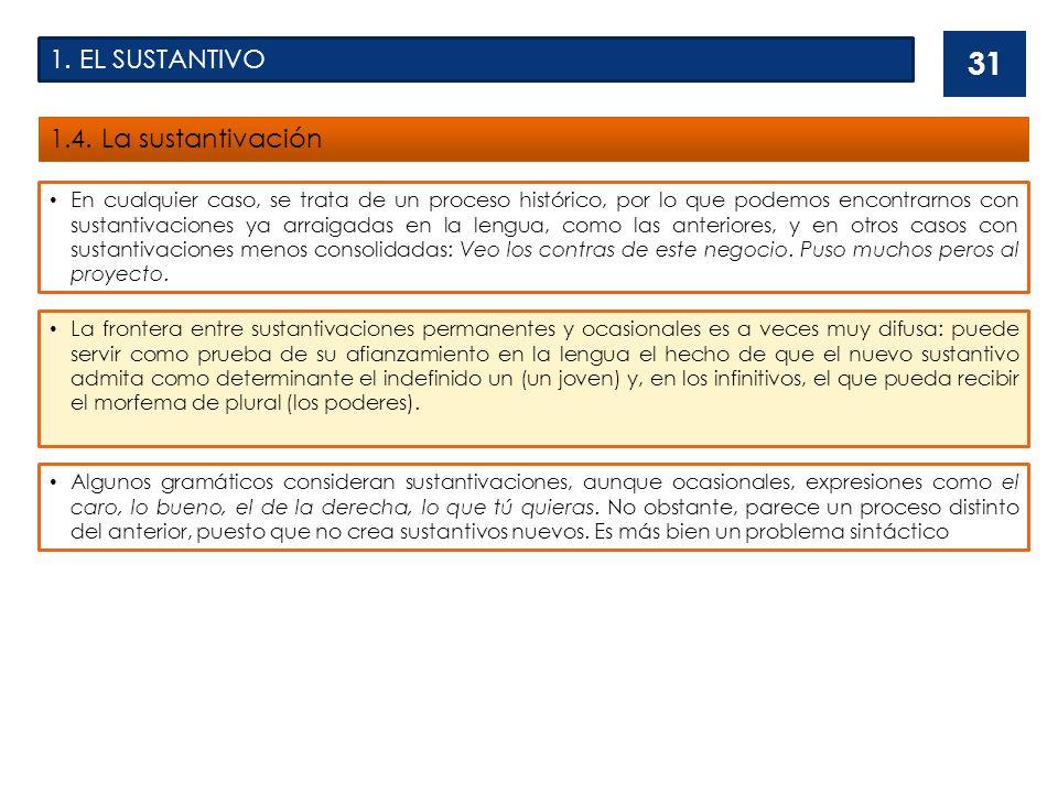 1.EL SUSTANTIVO 1.5.