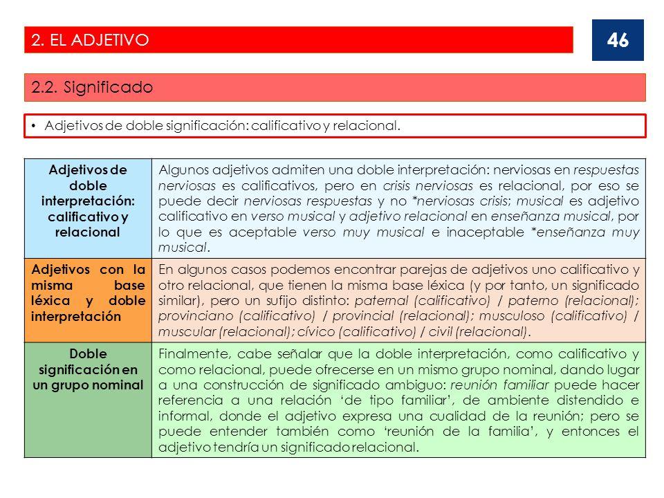 2.EL ADJETIVO 2.3.