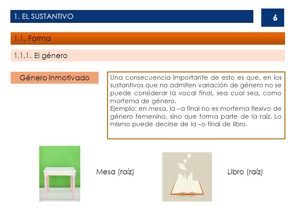 1.EL SUSTANTIVO 1.1.