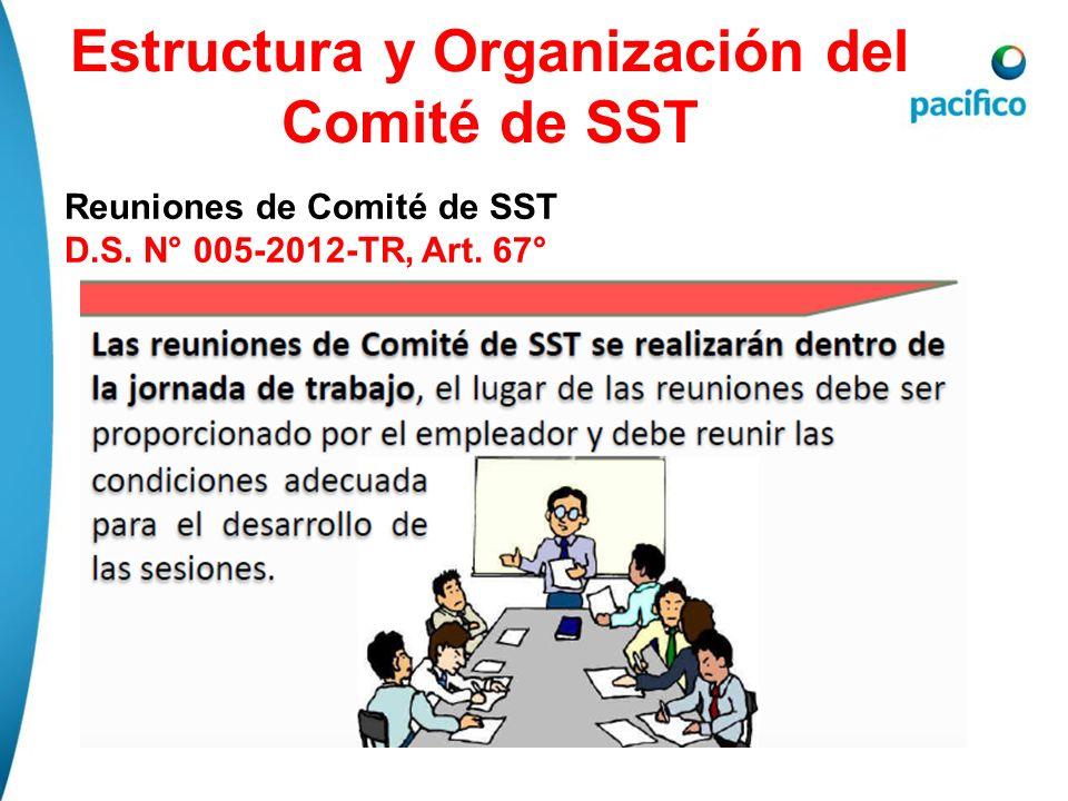 Estructura y Organización del Comité de SST Reuniones de Comité de SST D.S. N° 005-2012-TR, Art. 67°