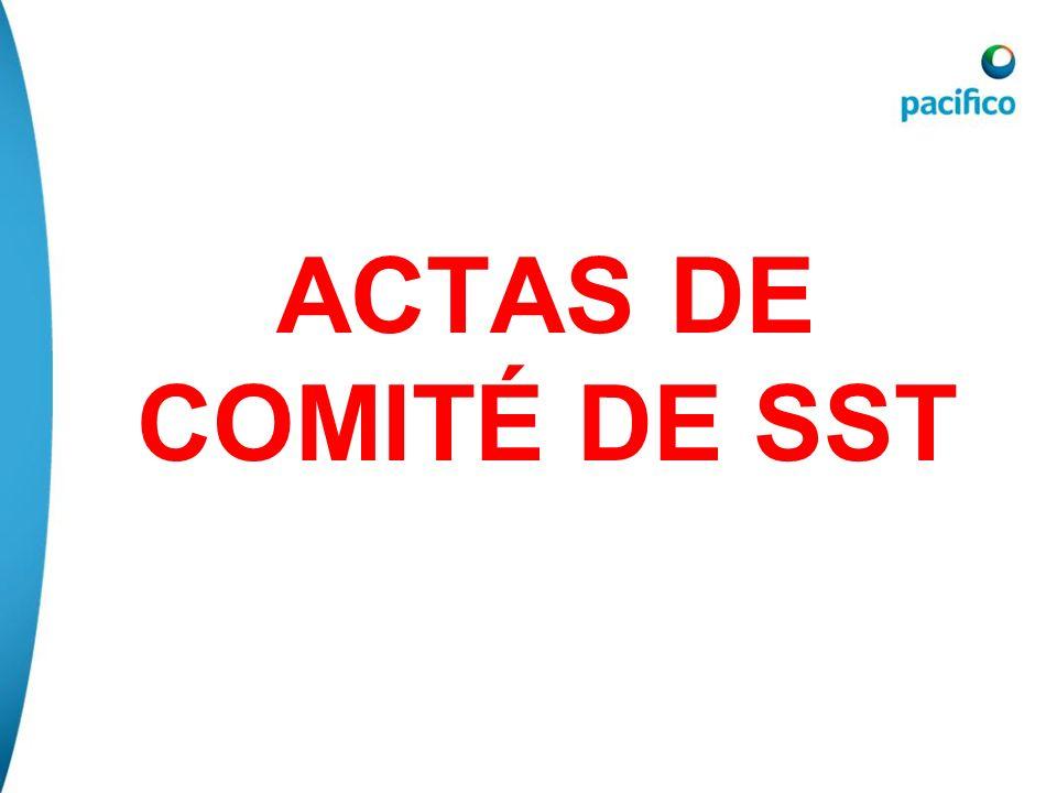 ACTAS DE COMITÉ DE SST