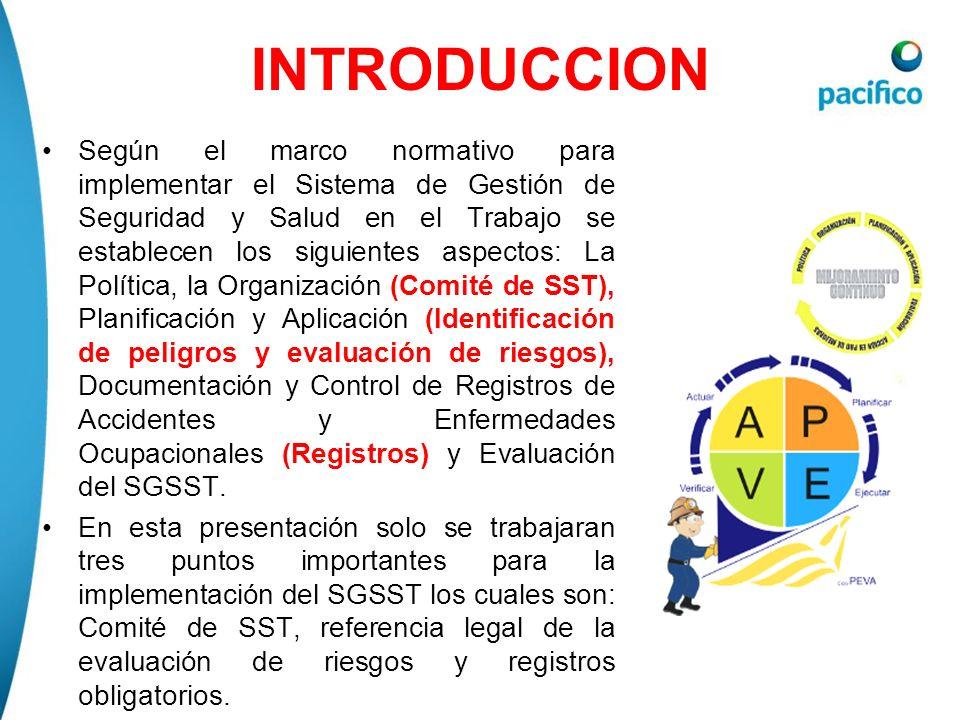 Estructura y Organización del Comité de SST Descripción de integrantes que conforman el Comité de SST D.S.
