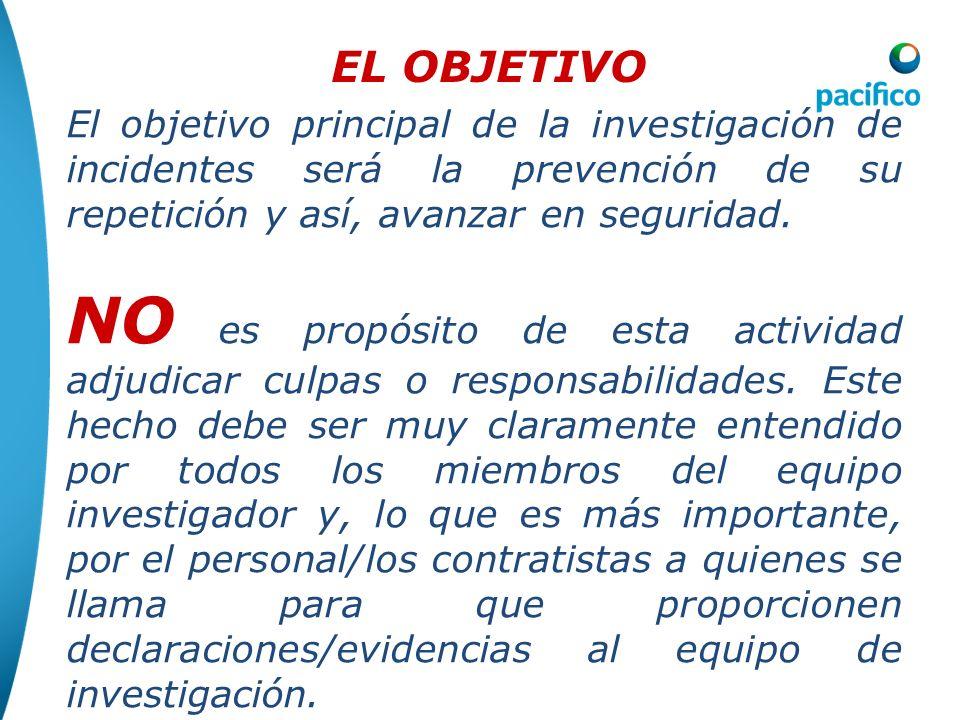 4. Investigación de incidentes Una investigación efectiva de incidentes requiere de un fuerte compromiso y participación de la Gerencia. La Gerencia d