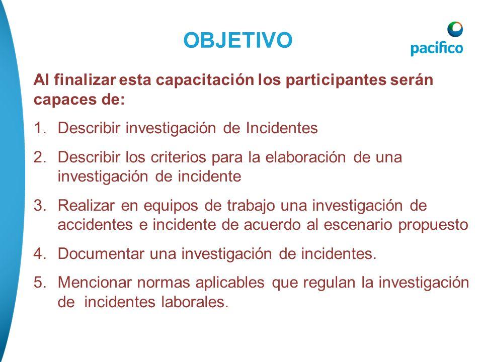 1.OBJETIVOS 2.INTRODUCCIÓN 3.MODELO DE CAUSALIDAD DE PERDIDAS 4.INVESTIGACIÓN DE INCIDENTE 5.CASO DE ESTUDIO 6.CONCLUSIONES 7.REPASO 8.INFORME CONTENI