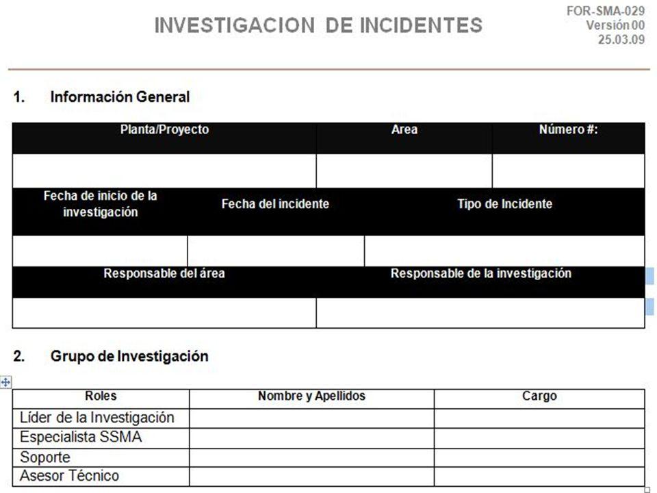 8.- Reporte de Incidentes Modelo de Formato de REPORTE DE INCIDENTES