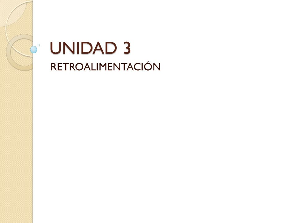 UNIDAD 3 RETROALIMENTACIÓN