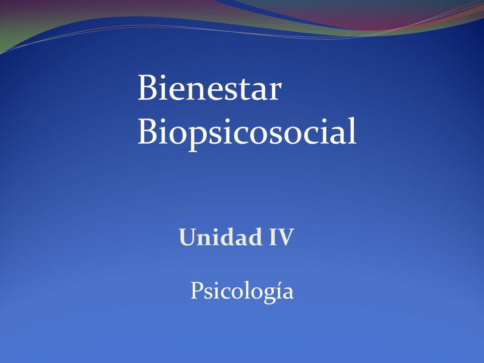 Bienestar Biopsicosocial Unidad IV Psicología