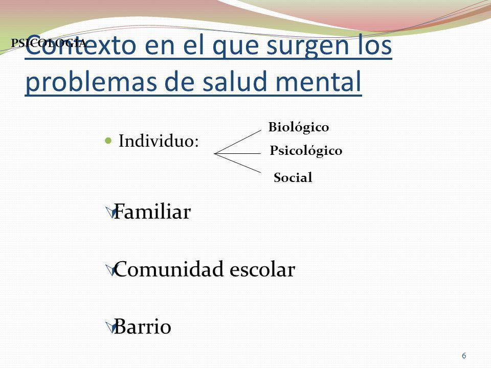 Gran incidencia en la salud mental de: Calidad de vida Valores y creencias Hábitos Estilo de vida 7 PSICOLOGIA Actividad: Crea 5 ejemplos de conductas normales y 5 anormales.