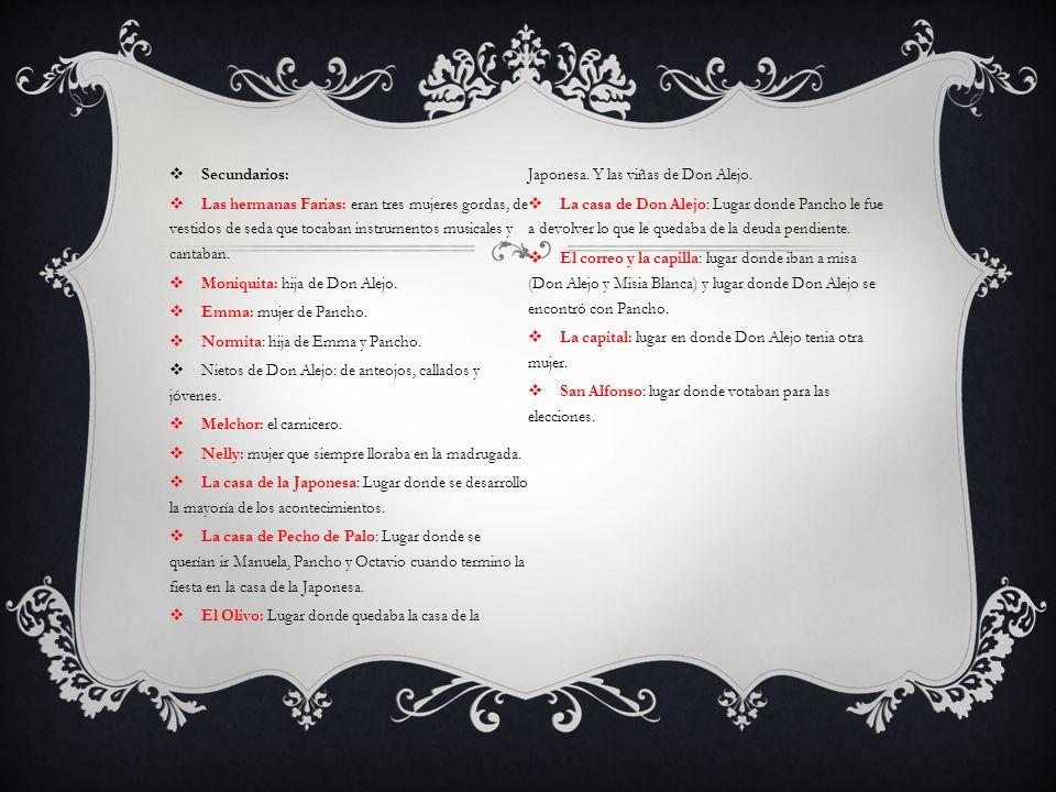 ARGUMENTO En el Olivo vivía don Alejandro Cruz, quien era senador de allí.