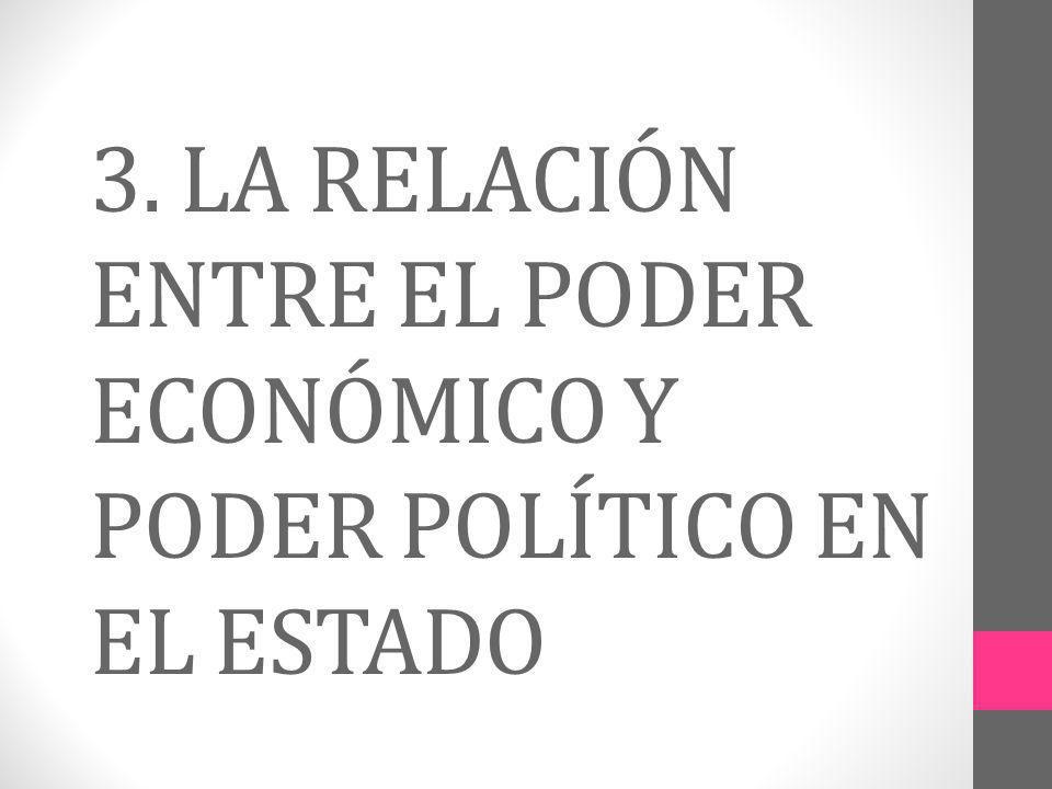 3. LA RELACIÓN ENTRE EL PODER ECONÓMICO Y PODER POLÍTICO EN EL ESTADO