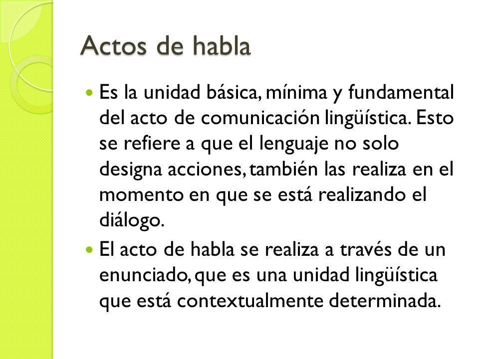 Dimensiones Locutivo: es la idea o el concepto de la frase en sí, es decir, aquello que se dice.