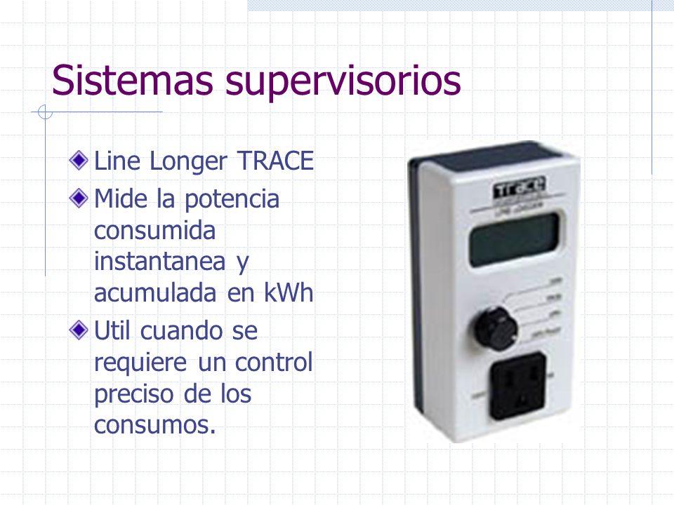 Sistemas supervisorios Line Longer TRACE Mide la potencia consumida instantanea y acumulada en kWh Util cuando se requiere un control preciso de los c