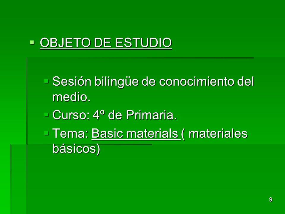8 METODOLOGÍA Enfoque CLIL/ AICLE. Enfoque CLIL/ AICLE.