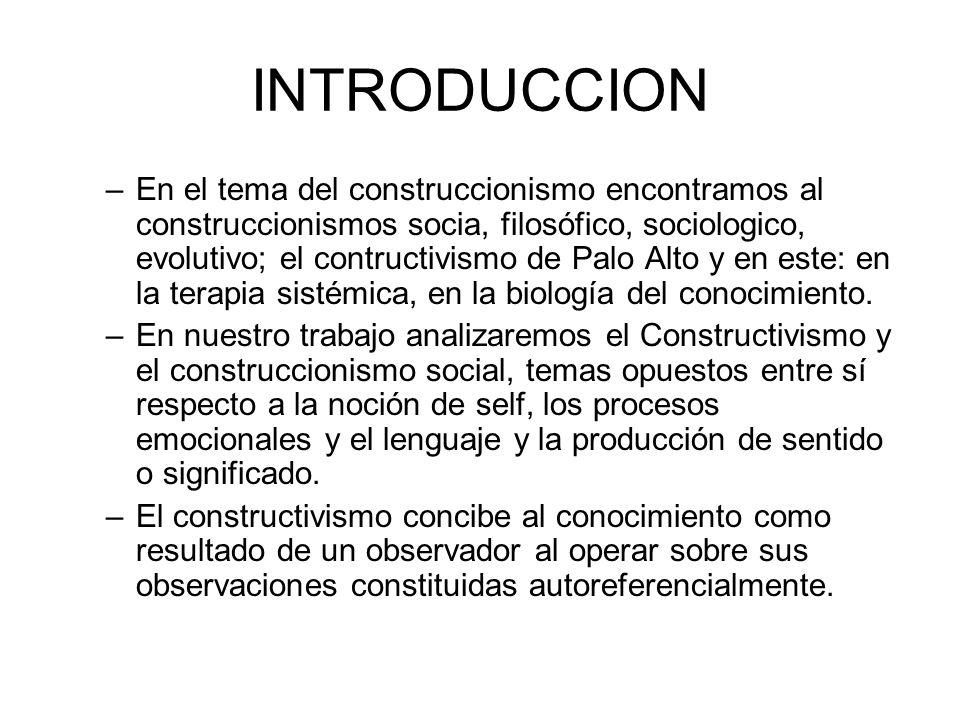 CONSTRUCTIVISMO EJERCICIOS: –Metáfora –Escultura de la familia ( un ejemplo) –Cuento sistémico