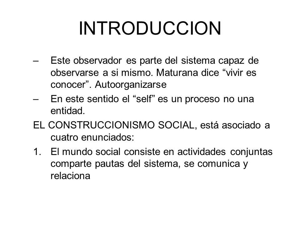 INTRODUCCION 2.Los sistemas relacionales son una interrelación de juegos humanos e interacción social.
