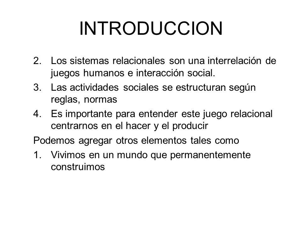 INTRODUCCION 2.Para el construccionista, la relacionalidad precede a la individualidad, por los inagotables intercambios sociales 3.El construccionismo tiene una base cartesiana (existencia del yo)