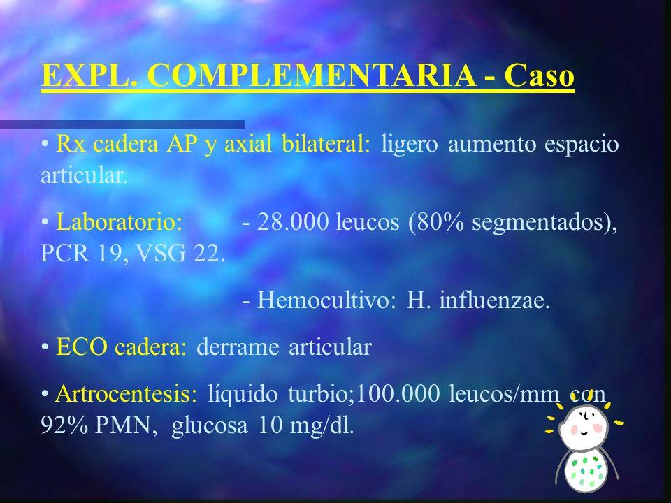 Otras: - Serología - Gammagrafía - TAC - RMN Si poco tiempo de evolución y exploración física normal se puede pautar antinflamatorios y reevaluar en 24-48 horas.