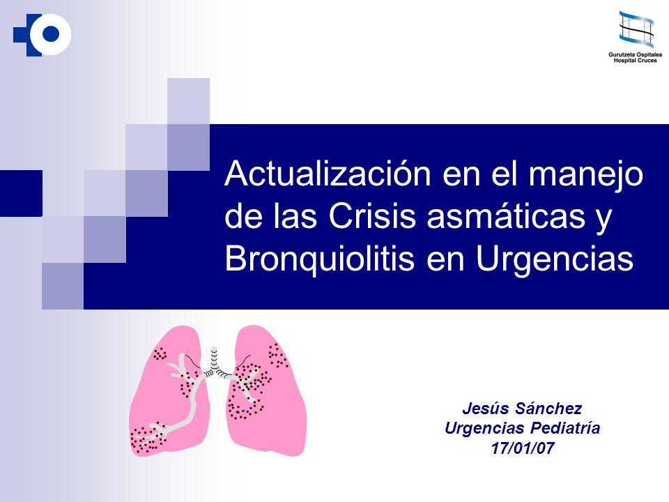 Actualización en el manejo de las Crisis asmáticas y Bronquiolitis en Urgencias Jesús Sánchez Urgencias Pediatría 17/01/07
