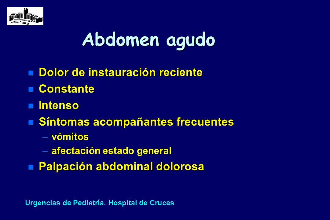 Diferencias entre niños diagnosticados de apendicitis en la 1ª (85%) 2ª visita (15%) (1999-2000)