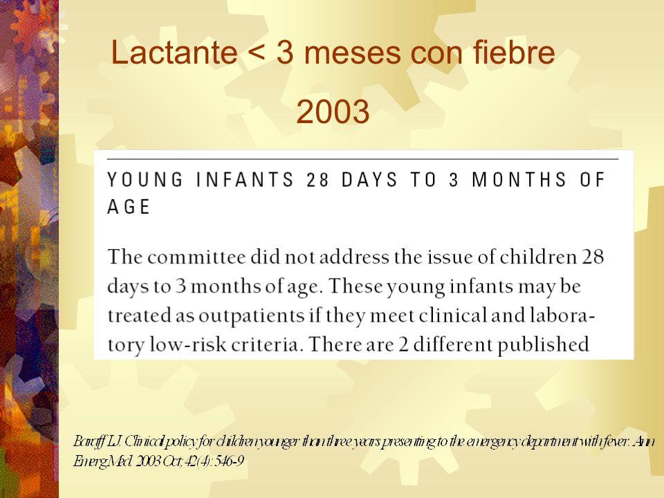 Lactante < 3 meses con fiebre 2003