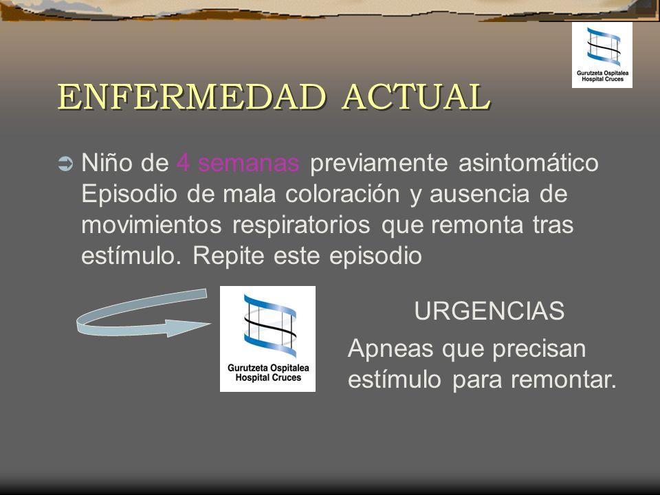 APARIENCIA irritable, quejoso CIRCULACIÓN palidez cutánea, cianosis perioral RESPIRACIÓN apneas TRIÁNGULO DE EVALUACIÓN PEDIÁTRICA ANORMAL ANORMAL/ NORMAL