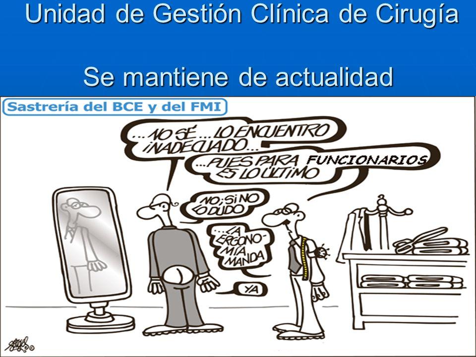 Unidad de Gestión Clínica de Cirugía Se mantiene de actualidad Unidad de Gestión Clínica de Cirugía Se mantiene de actualidad