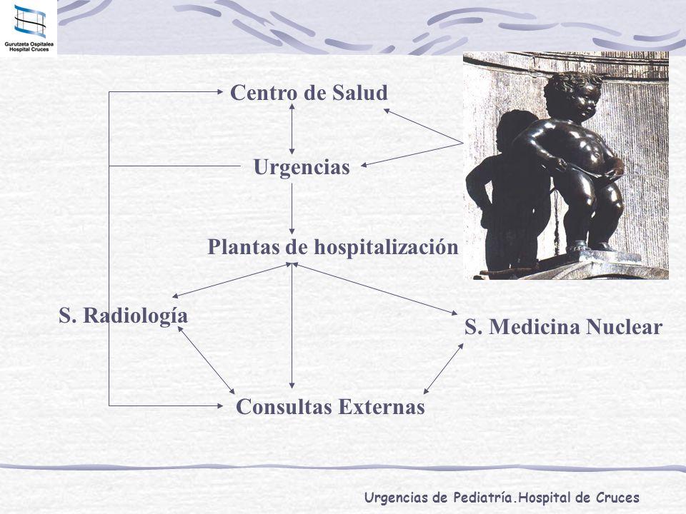 Urgencias de Pediatría.Hospital de Cruces Urgencias Centro de Salud Plantas de hospitalización Consultas Externas S. Radiología S. Medicina Nuclear