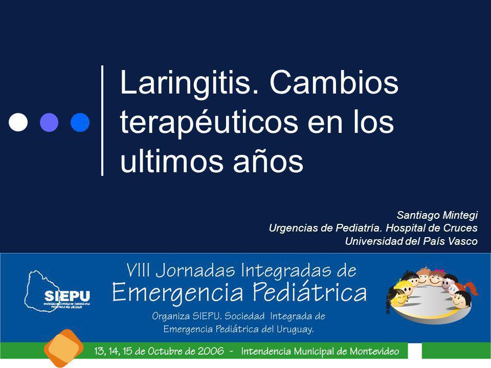 Laringitis. Cambios terapéuticos en los ultimos años Santiago Mintegi Urgencias de Pediatría. Hospital de Cruces Universidad del País Vasco