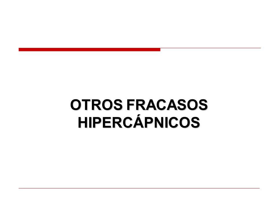 OTROS FRACASOS HIPERCÁPNICOS