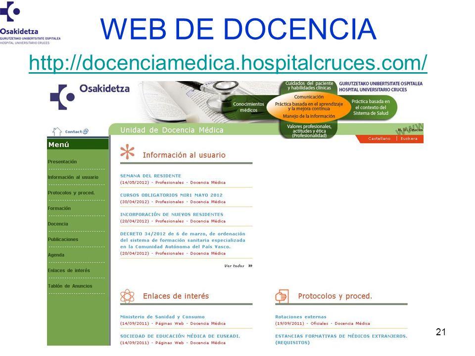 Gonzalez-Larragán Susana.21 WEB DE DOCENCIA http://docenciamedica.hospitalcruces.com/