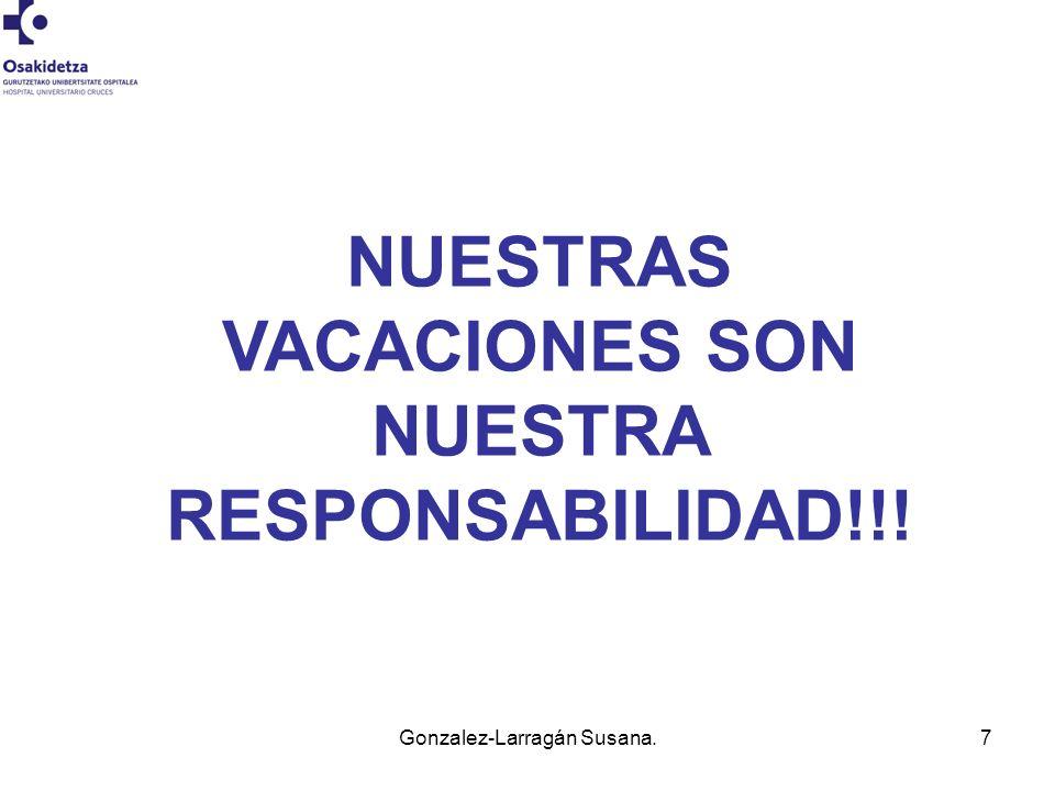 7 NUESTRAS VACACIONES SON NUESTRA RESPONSABILIDAD!!!