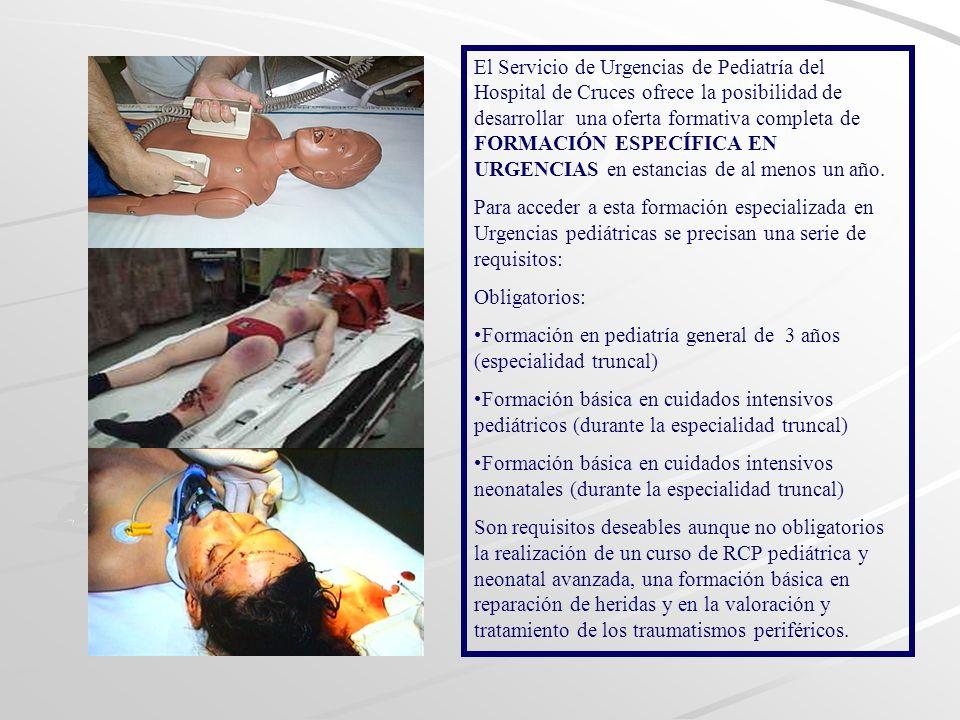 En estancias de entre 2 y 6 meses se oferta: Integración en el equipo médico de UP con un calendario laboral similar al de los pediatras de Urgencias.