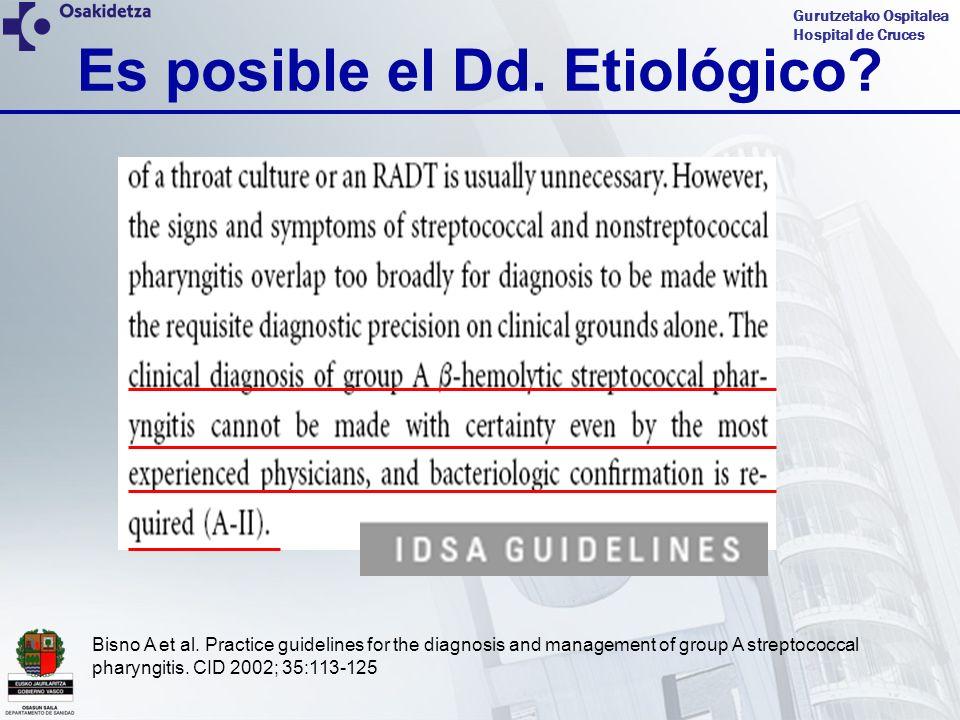 Gurutzetako Ospitalea Hospital de Cruces CASO CLINICO 4 Cuadro clínico: 13 años, mes de junio, fiebre de 39ºC de 36 horas.