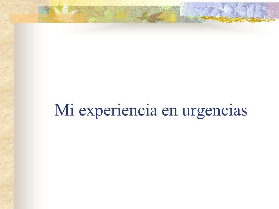 Mi experiencia en urgencias
