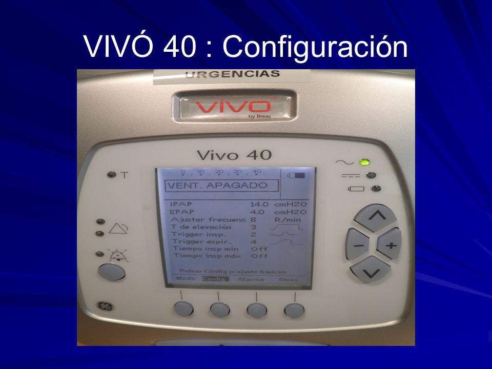 VIVÓ 40 : Configuración