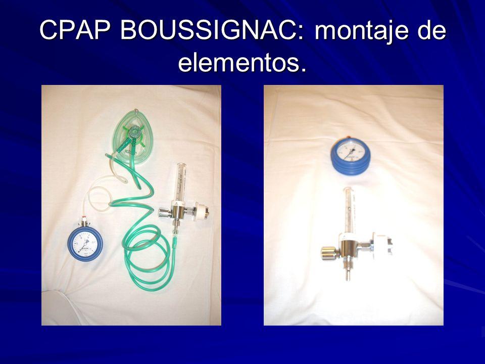 CPAP BOUSSIGNAC: montaje de elementos.