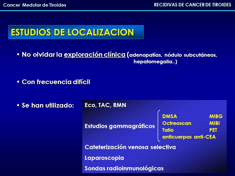 No olvidar la exploración clínica No olvidar la exploración clínica ( adenopatías, nódulo subcutáneos, hepatomegalia..) Con frecuencia difícil Con fre