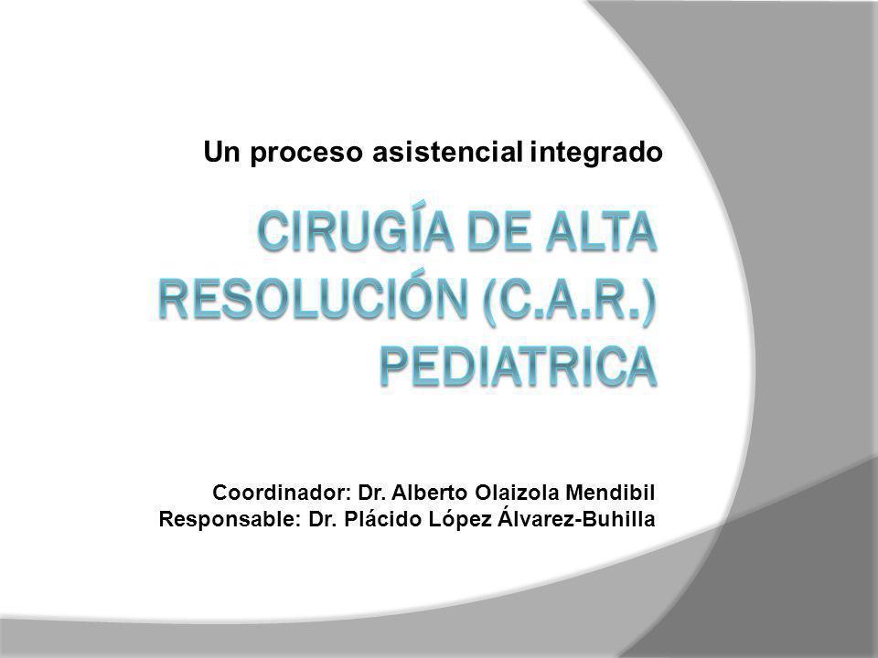 Un proceso asistencial integrado Coordinador: Dr. Alberto Olaizola Mendibil Responsable: Dr. Plácido López Álvarez-Buhilla
