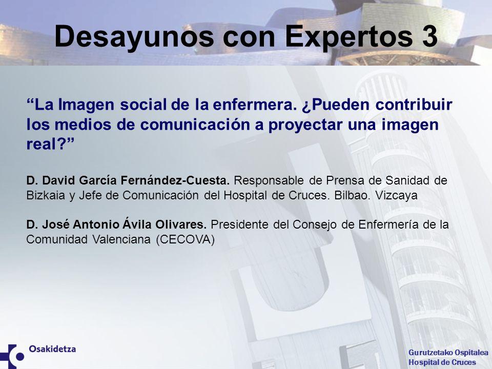 Gurutzetako Ospitalea Hospital de Cruces La Imagen social de la enfermera. ¿Pueden contribuir los medios de comunicación a proyectar una imagen real?
