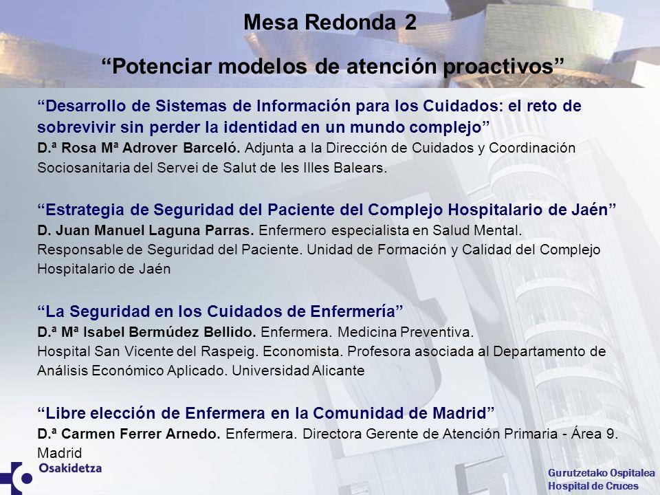 Gurutzetako Ospitalea Hospital de Cruces Evaluación de competencias como desarrollo del capital humano D.ª Carmen Juliá Cerezo.