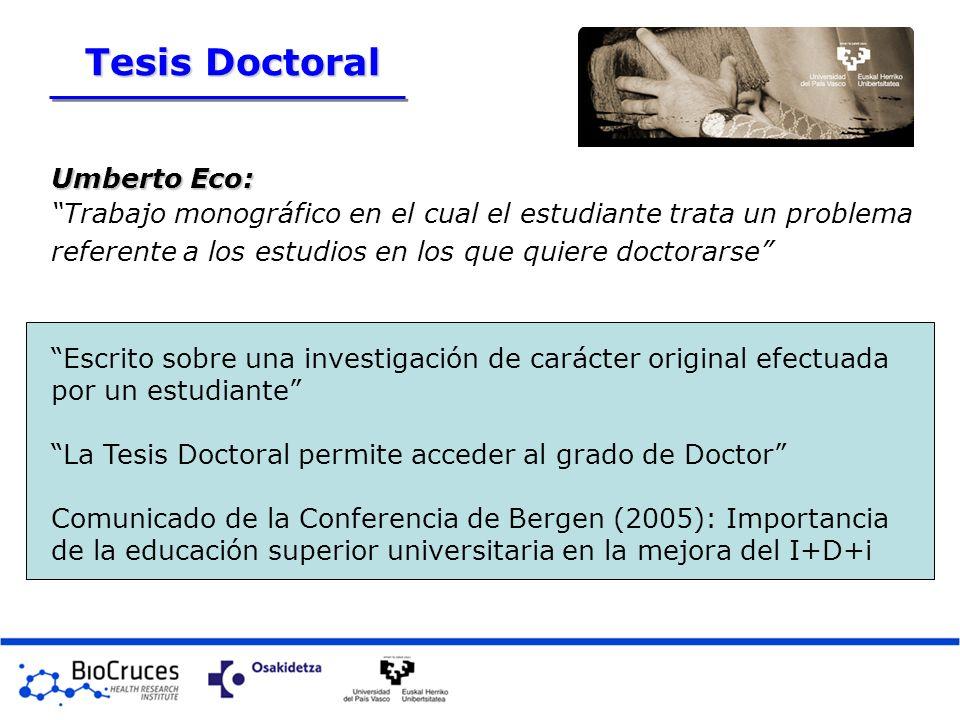 Umberto Eco: Trabajo monográfico en el cual el estudiante trata un problema referente a los estudios en los que quiere doctorarse Escrito sobre una in