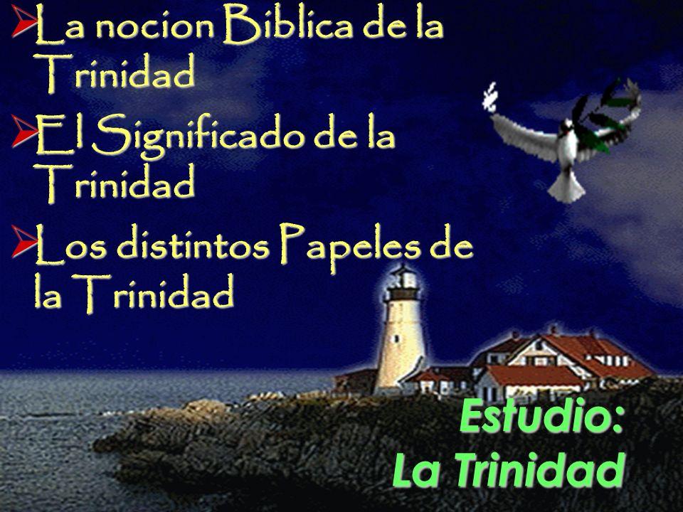 Estudio: La Trinidad La nocion Biblica de la Trinidad La nocion Biblica de la Trinidad El Significado de la Trinidad El Significado de la Trinidad Los