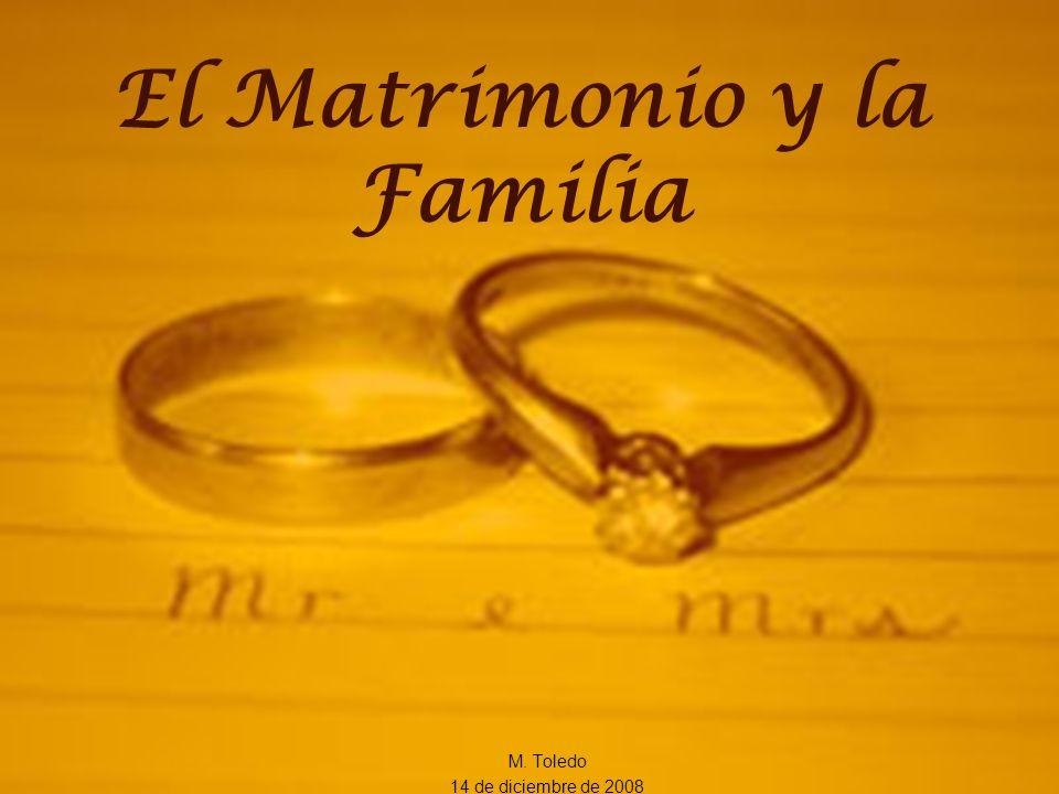 El Matrimonio y la Familia M. Toledo 14 de diciembre de 2008