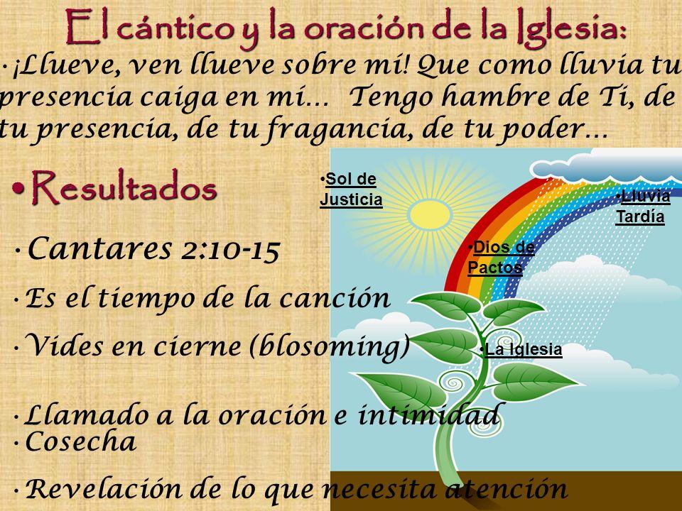 El cántico y la oración de la Iglesia: ¡Llueve, ven llueve sobre mí! Que como lluvia tu presencia caiga en mí… Tengo hambre de Ti, de tu presencia, de