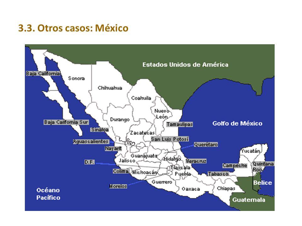 3.3. Otros casos: México