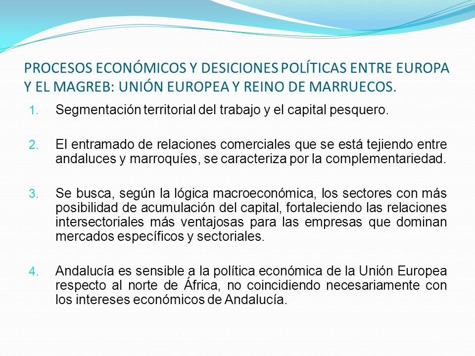 PROCESOS ECONÓMICOS Y DESICIONES POLÍTICAS ENTRE EUROPA Y EL MAGREB: UNIÓN EUROPEA Y REINO DE MARRUECOS. 1. Segmentación territorial del trabajo y el
