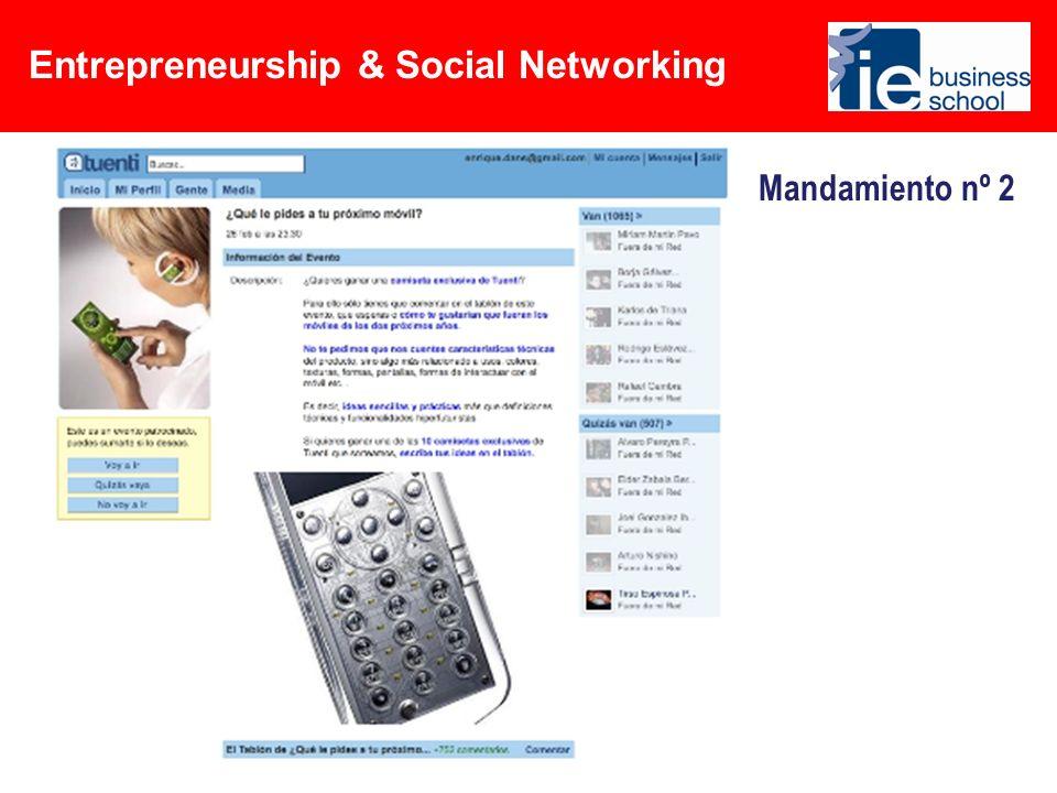Entrepreneurship & Social Networking Mandamiento nº 3 Encuentra inversores…