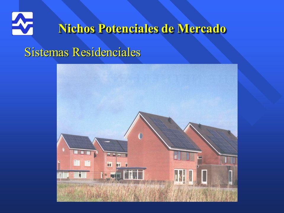 Nichos Potenciales de Mercado Sistemas Residenciales